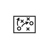 Football tactics line icon