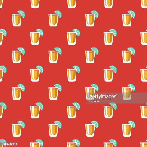 football tailgating party seamless pattern - tequila drink stock illustrations, clip art, cartoons, & icons