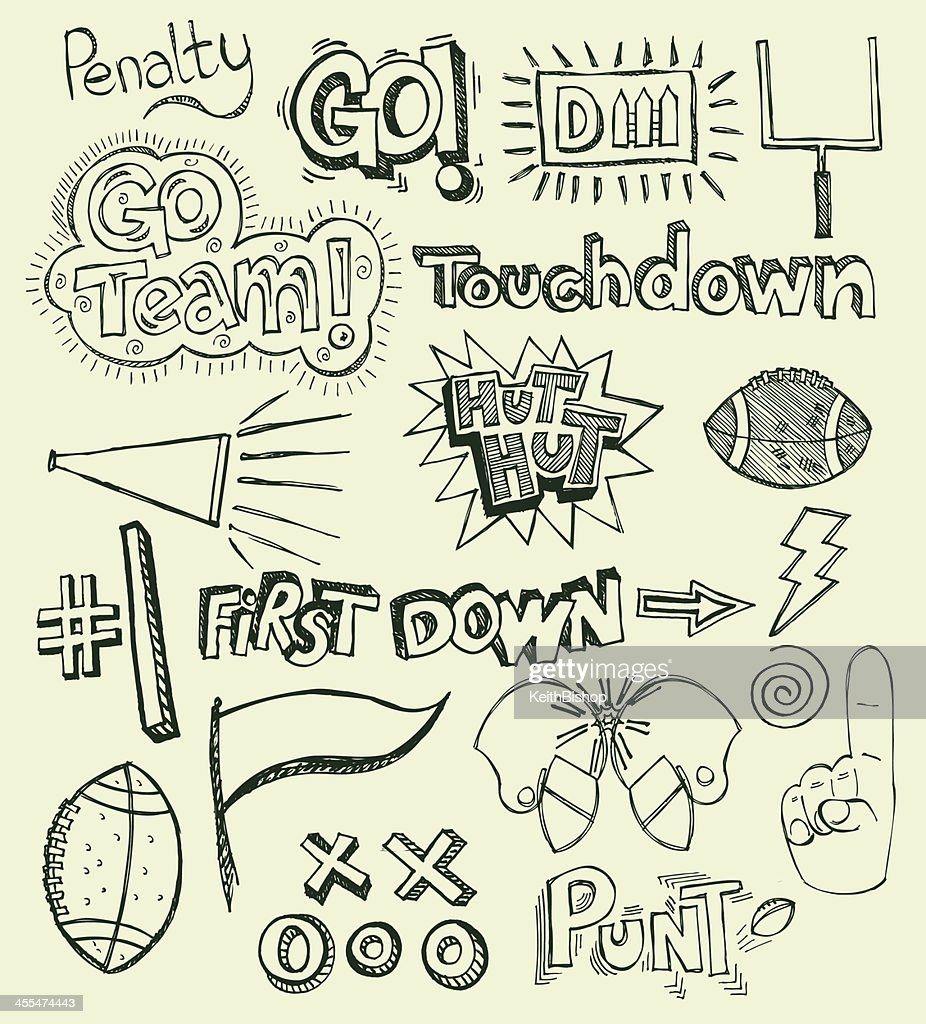 Football, Team Sport Doodles