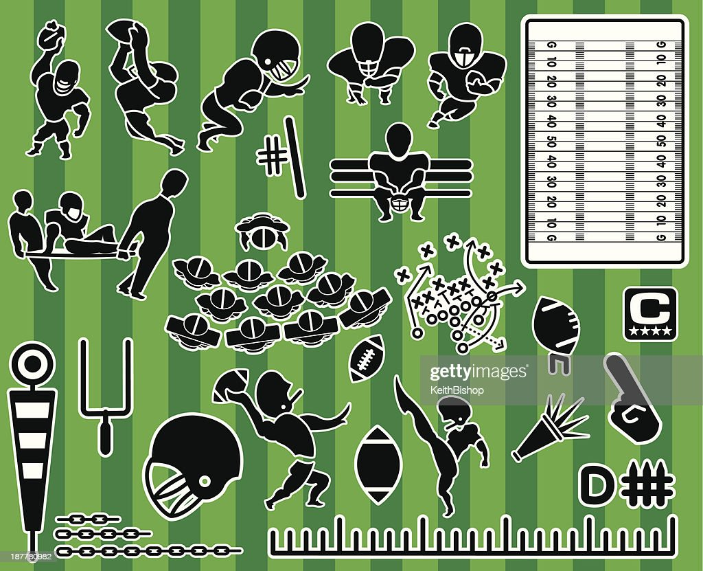 Football Themed Icon Collection Set