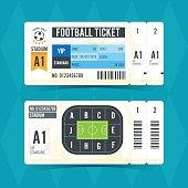 Football Ticket Modern Design. Vector illustration