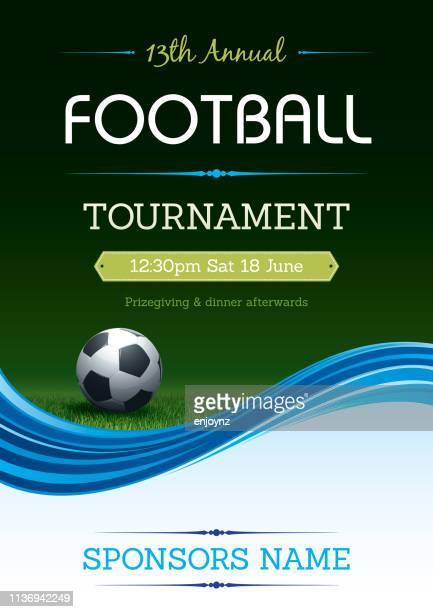 football tournament poster - competition group stock illustrations