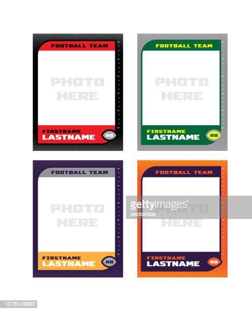 football trading card - american football sport stock illustrations