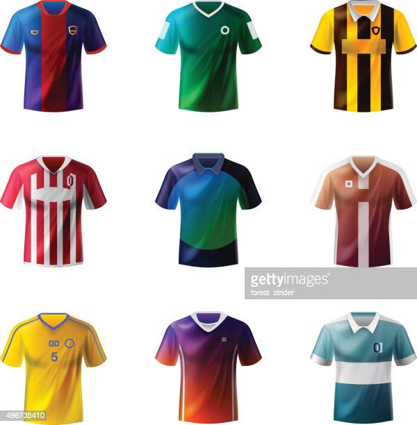 football uniforms - shirt stock illustrations