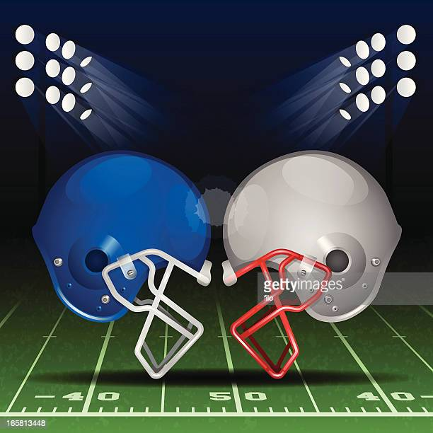 football - football helmet stock illustrations