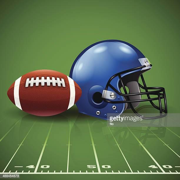フットボール - アメリカンフットボール場点のイラスト素材/クリップアート素材/マンガ素材/アイコン素材