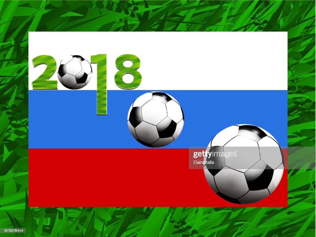 Fussball World Cup 2018 Hintergrund Stock Illustration