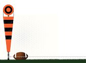 Football Yard Marker - Fourth and One Background