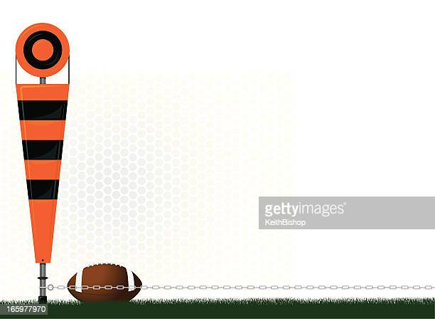 football yard marker - fourth and one background - fourth down american football stock illustrations