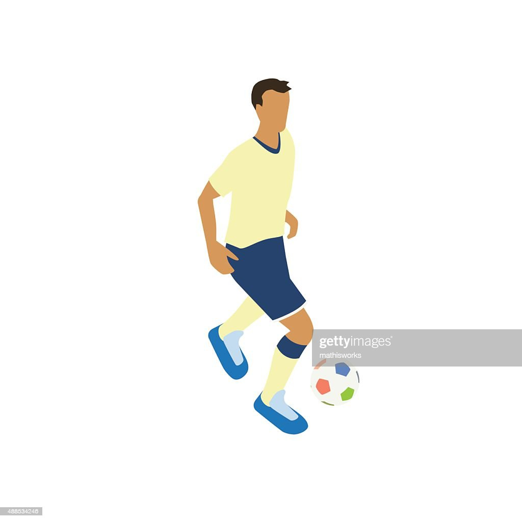 Footballer illustration : stock illustration