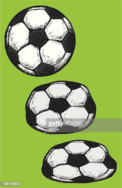 illustrazioni stock, clip art, cartoni animati e icone di tendenza di palloni - schiacciato