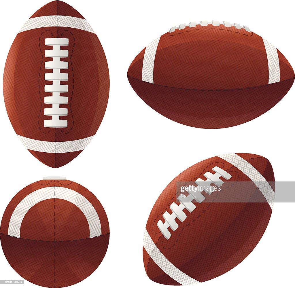 Footballs : stock illustration