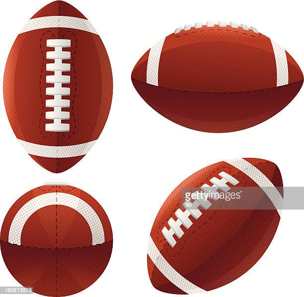 stockillustraties, clipart, cartoons en iconen met footballs - football