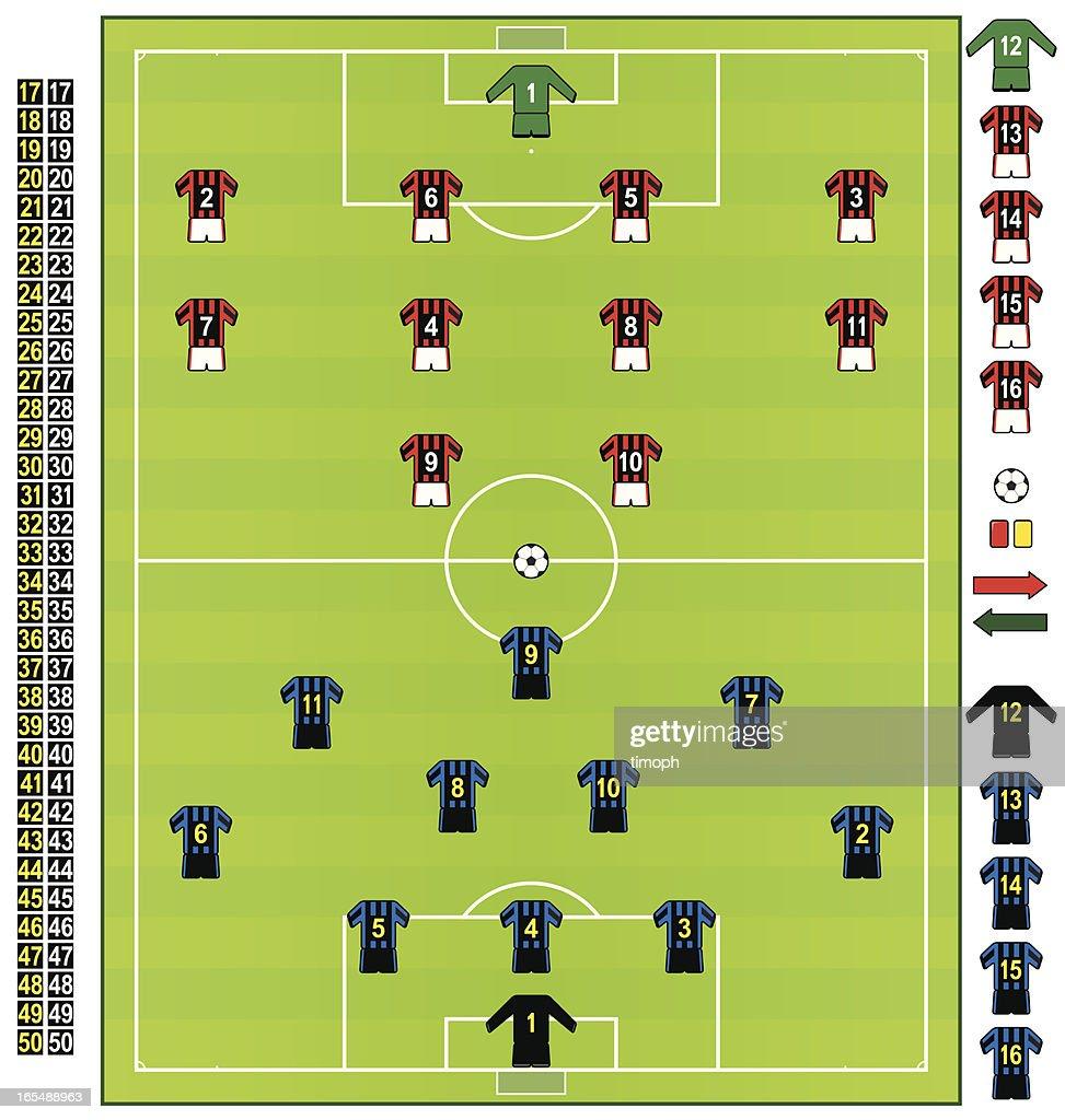 Football/soccer strips ITA : stock illustration