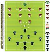 Football/soccer strips ITA