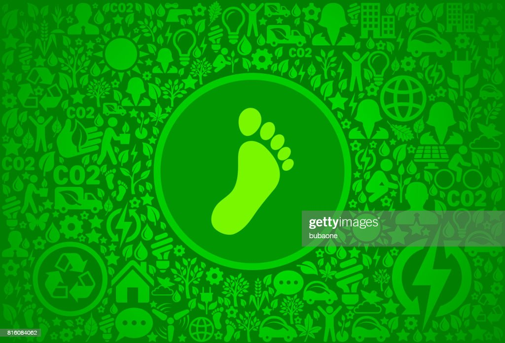 Footprint Environment Green Vector Icon Pattern : stock illustration
