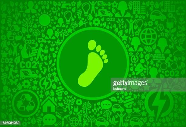 fußabdruck umgebung grüne symbol vektormuster - piktogramm collage stock-grafiken, -clipart, -cartoons und -symbole