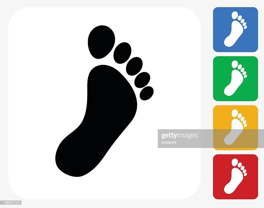 Footprint Icon Flat Graphic Design