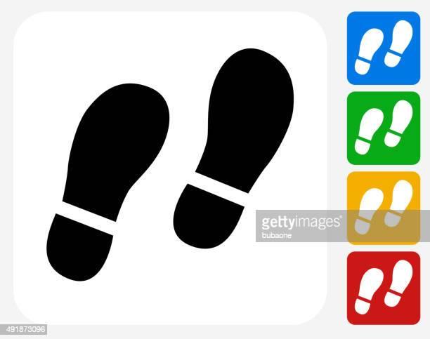 Footprints Icon Flat Graphic Design
