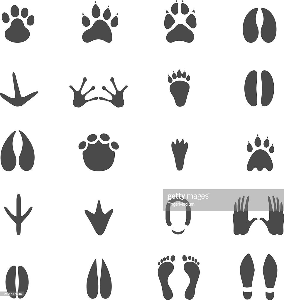Footprints icon set