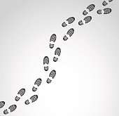 Footprints vector illustration.