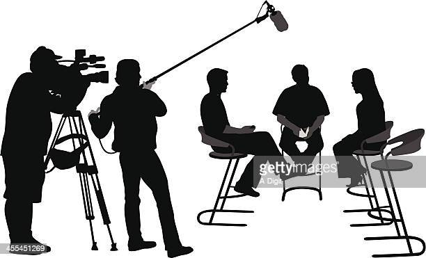 for broadcast - stool stock illustrations, clip art, cartoons, & icons