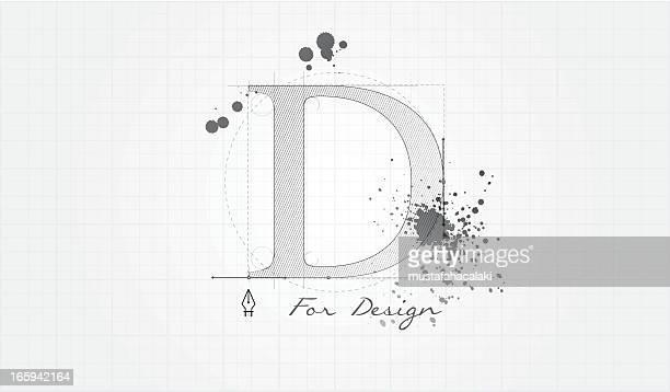 ilustraciones, imágenes clip art, dibujos animados e iconos de stock de d para diseño - cuadrícula