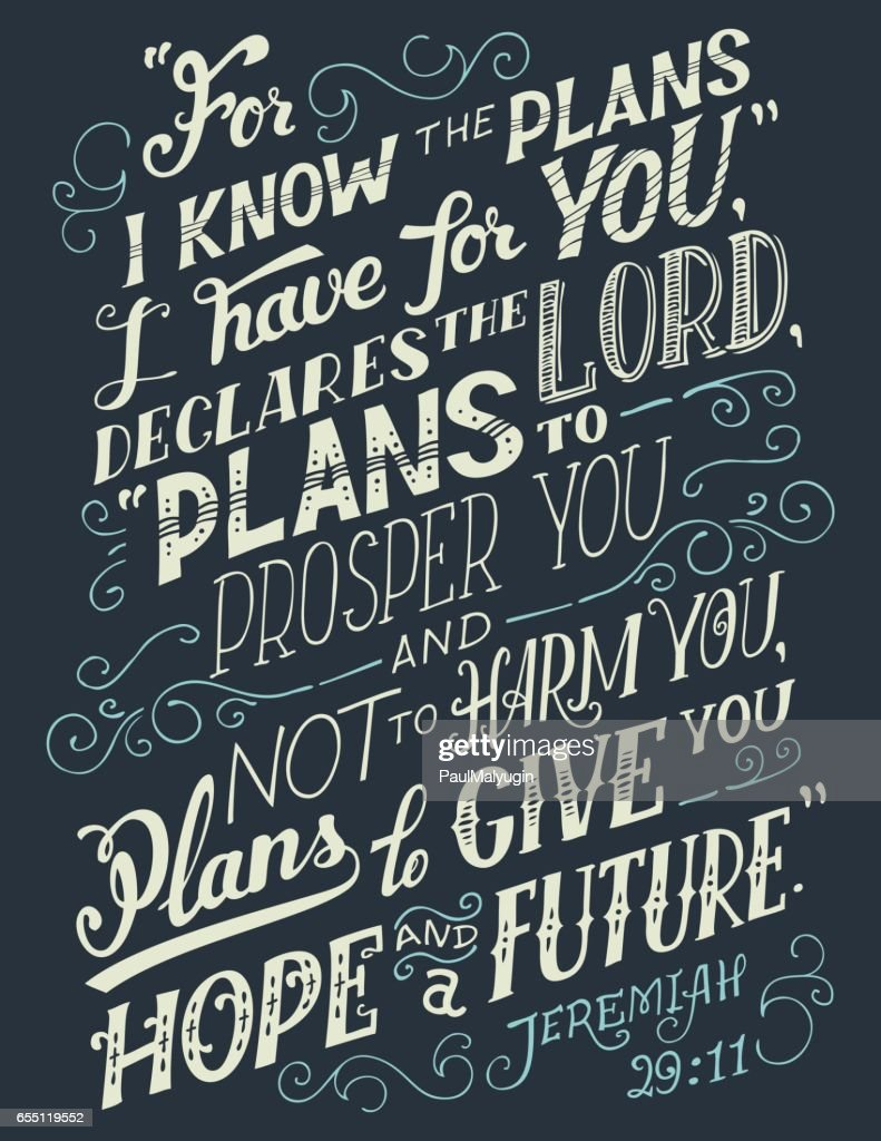 For I know the plans I have for you bible quote