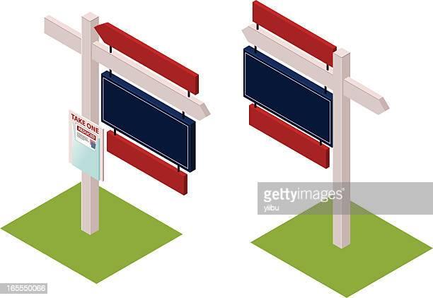 For Sale or rent! Real estate/estate agent signage