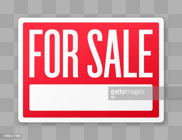 for sale sign - commercial real estate sign stock illustrations