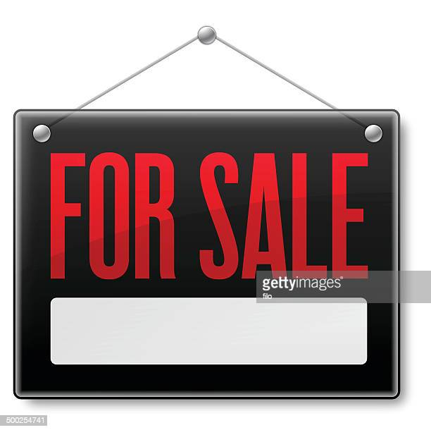 for sale - store sign stock illustrations