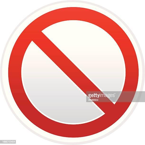 forbidden sign - denial stock illustrations, clip art, cartoons, & icons