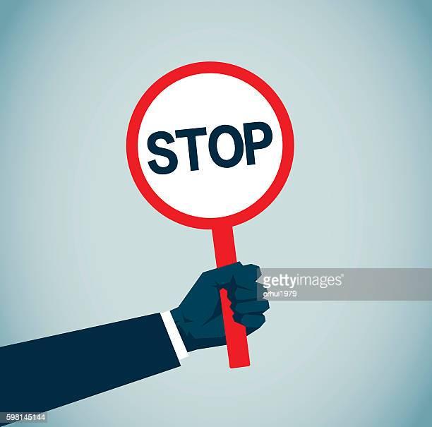 illustrations, cliparts, dessins animés et icônes de la cité interdite - panneau stop