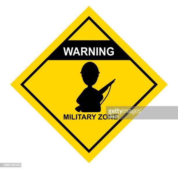 forbidden zone sign cartoon style - army helmet stock illustrations, clip art, cartoons, & icons