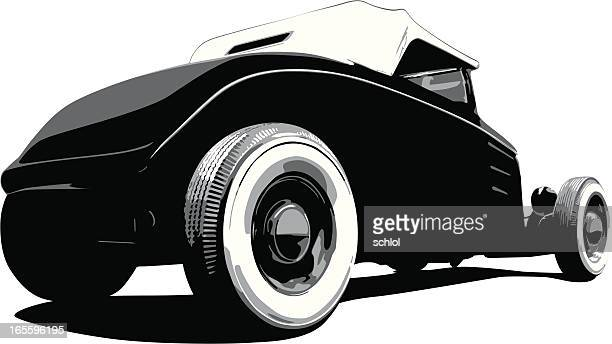 ford hot rod 1932 - low rider stock illustrations