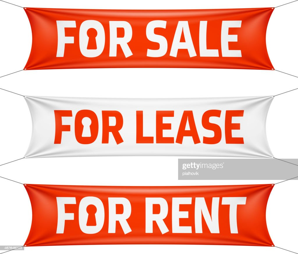 Fore Sale, Lease and Rent banners