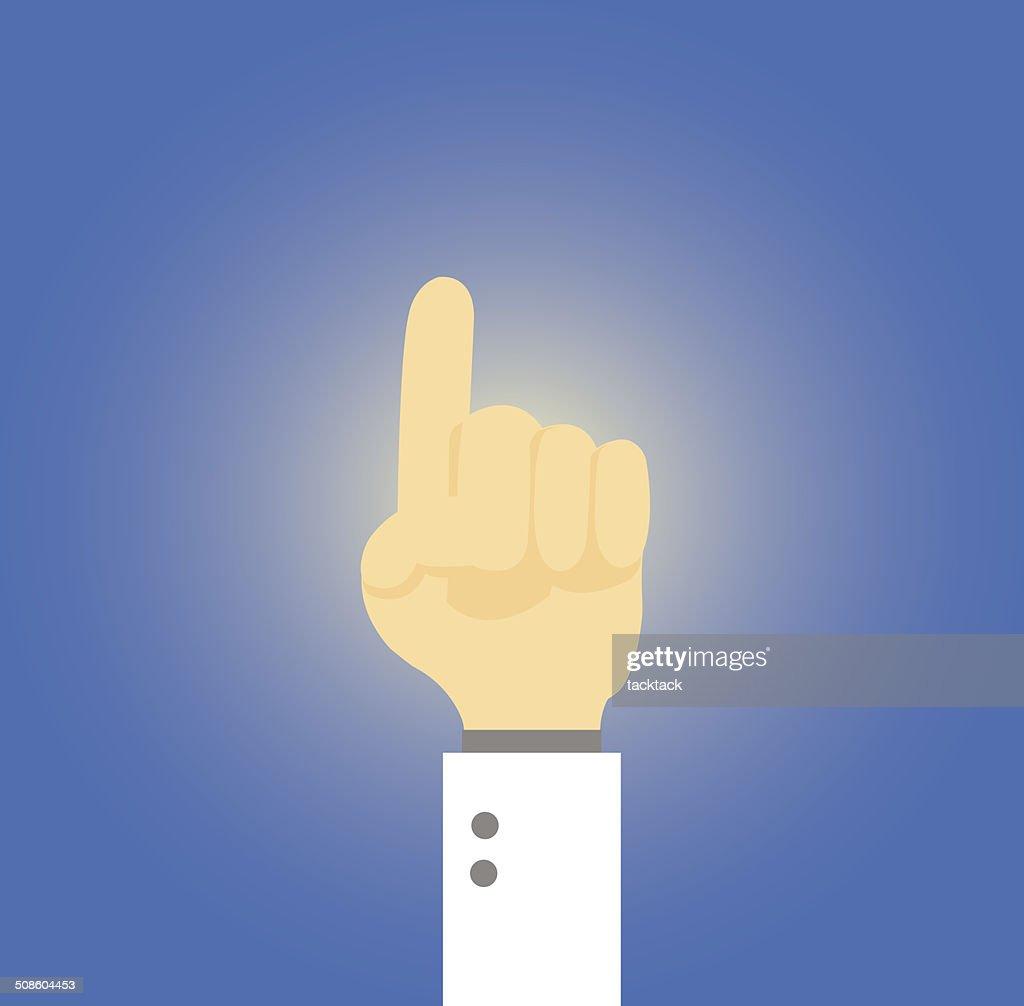 O dedo indicador : Arte vetorial