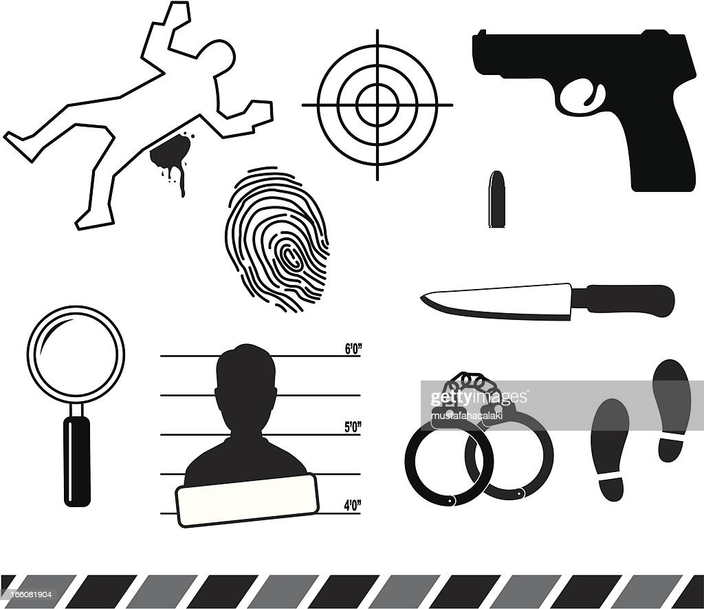 Forensic symbols vector art getty images forensic symbols vector art buycottarizona