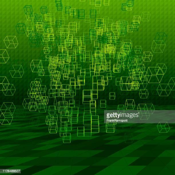 Forest abstrakte 3D-Vektor Cube