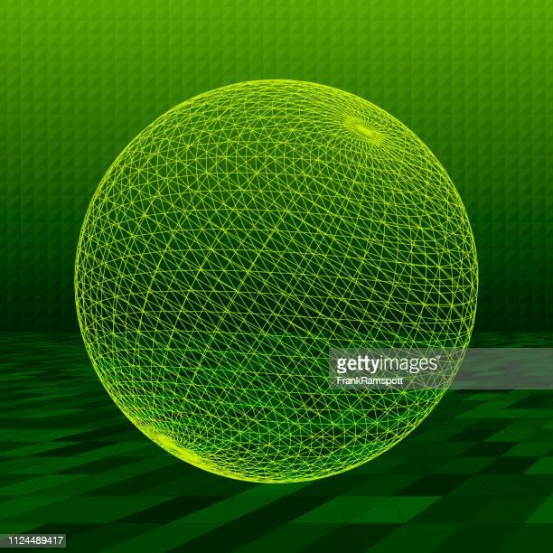 Forest abstrakte 3D-Vektor Kugel