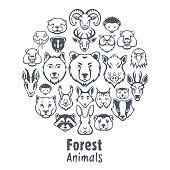 Forest Animals Collage