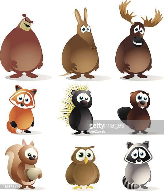 森の動物 - ヤマアラシ点のイラスト素材/クリップアート素材/マンガ素材/アイコン素材