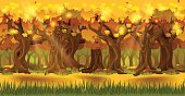 Forest at autumn background