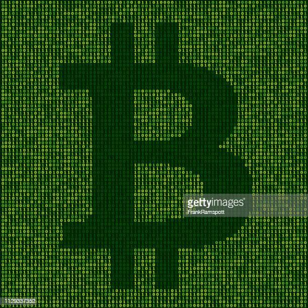 Forest Bitcoin Zeichen Binärzahlen Vektormuster