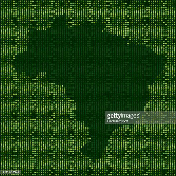 Forest Brasilien Karte Binärzahlen Vektormuster