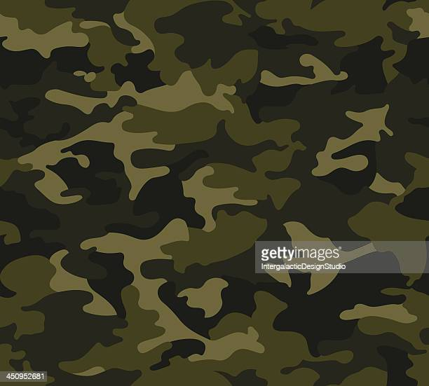 forest camo pattern repeat - military personnel stock illustrations, clip art, cartoons, & icons