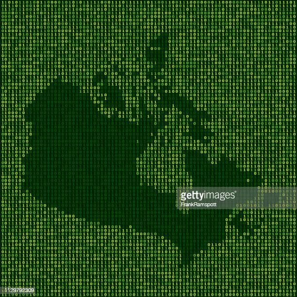 Forest Kanada Karte Binärzahlen Vektormuster