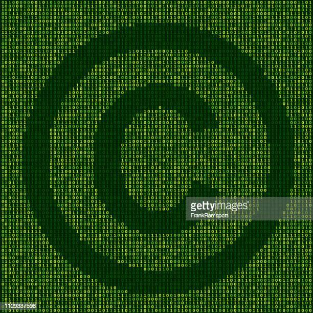 Wald-Copyright Zeichen Binärzahlen Vektormuster