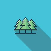 Forest Flat Icon