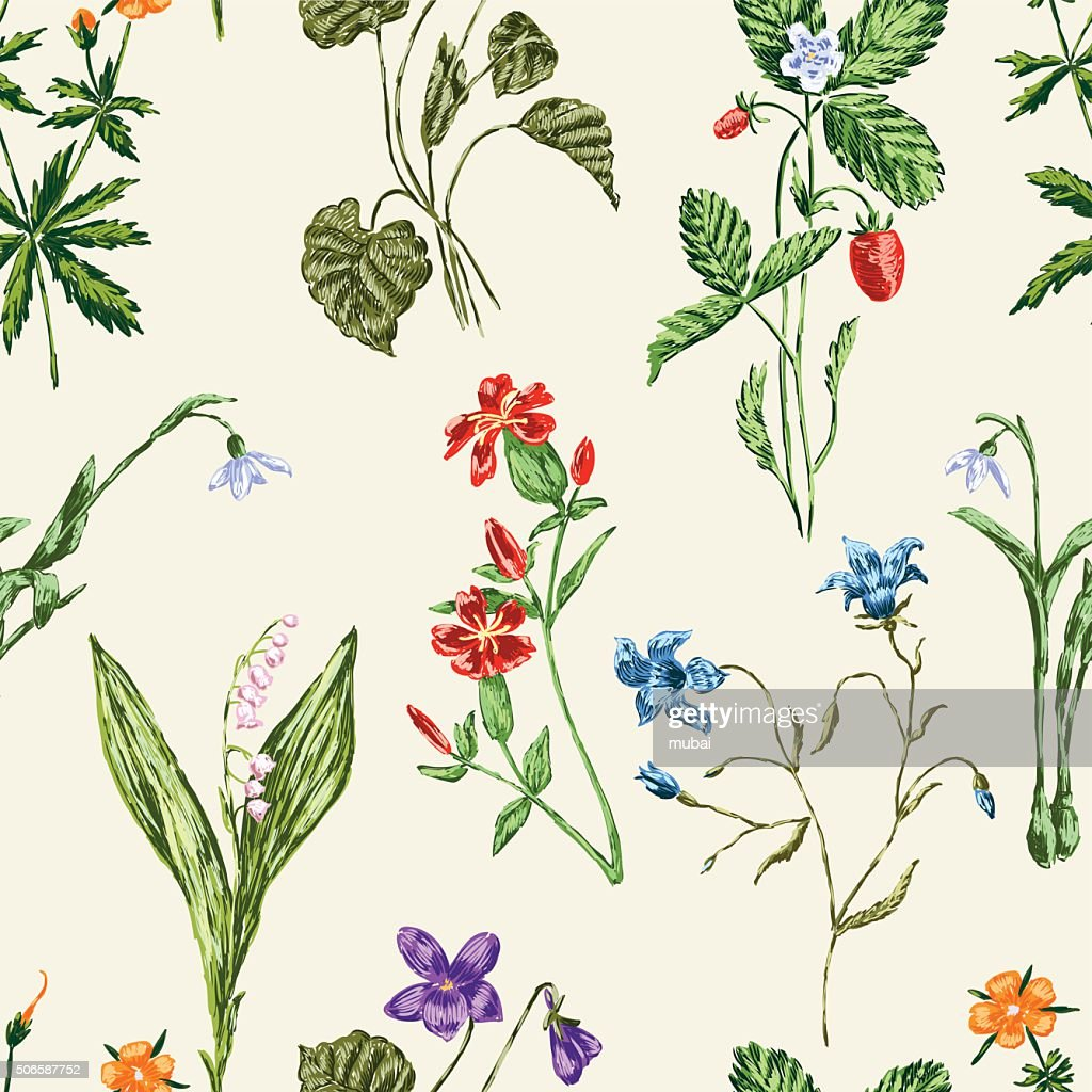 forest flowers pattern